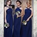 Chiffon New Arrival A Line Bridesmaid Dresses Long Navy Blue Bridesmaids Gown vestido longo vestidos de festa