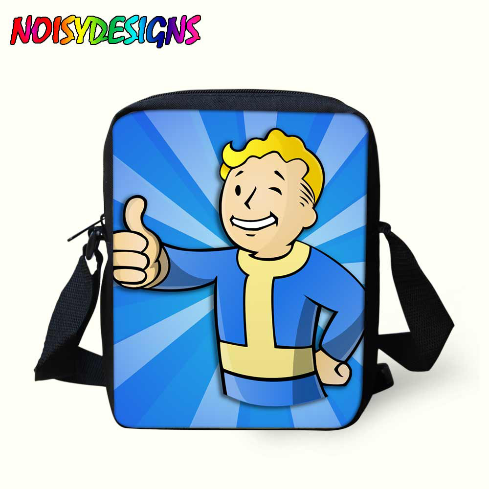 3D Fallout Cartoon Personality Bags for Kids Crossbody Bookbag Children  Boys Girls Blue Messenger School bags Satchel mochila 31c39475cca4d