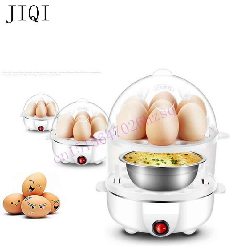 Double layer Multi-function Electric Egg Cooker Boiler Stainless steel  automatic power-off Mini free shipping multifunctional stainless steel eggboilers mini egg and egg machine automatic power off single genuine