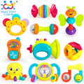 10PCS/Lot Huile Toys Baby Toys Musical Instrument Colorful Infant Animal Handbell Rattle Shaker Bell Ring Ball Toy Newborns Toy