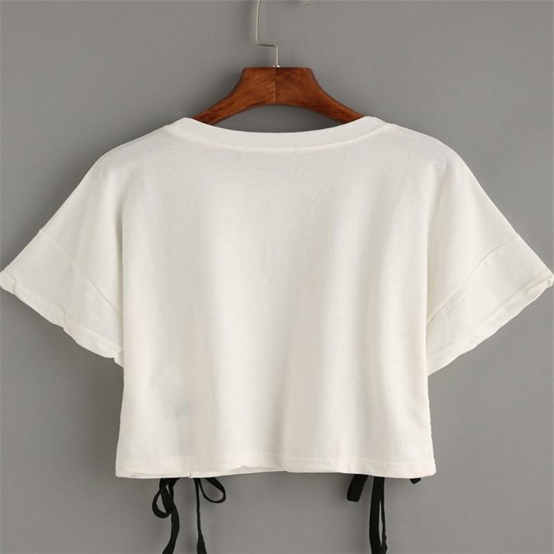 FELIZ PRETTY nuevo verano tops de mujer camiseta de mujer letra de - Ropa de mujer - foto 4