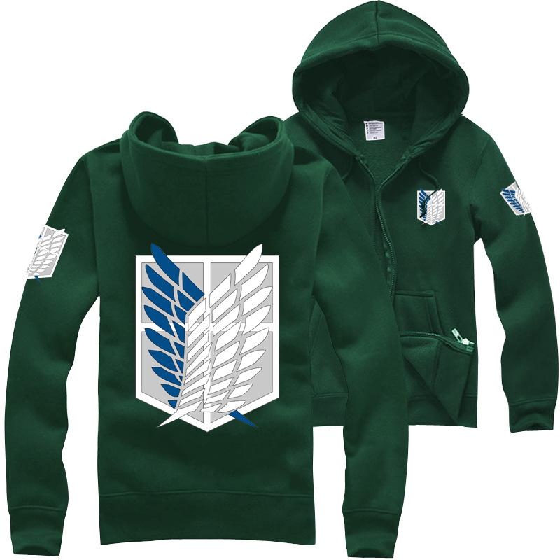 Attack on titan anime hoodies freedom wings cool daily wear sweatshirts ac389