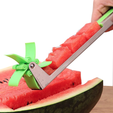 Windmill Shape Watermelon Cutter Kitchen Fruit Knife Salad Tool For Cutting Melon Cantaloupe Power Save Plastic