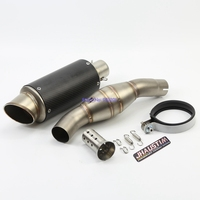 JHAUSTIM Motorcycle For Benelli BJ300GS Exhaust Muffler System BJ300 Motorbike End Pipe And Middle Pipe With