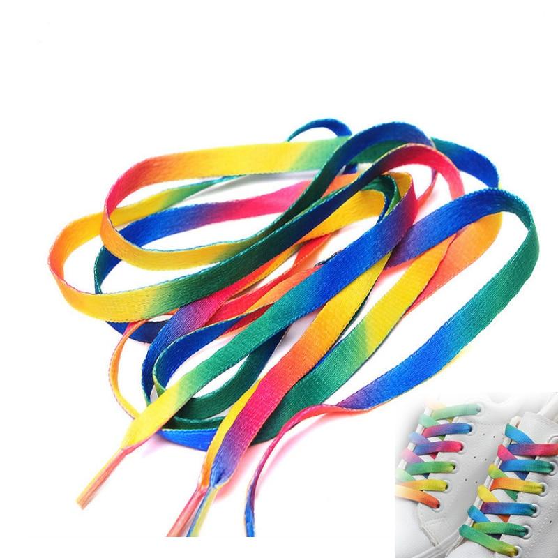 100 Pieces Wholesale Unisex  Outdoor Sport Casual Shoelace Colorful  Multipurpose String Party For Fluorescent Shoe Laces