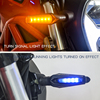 LED Steering Light Flashing Headlight 12Led Indicator Light Blinker Lamp Turn Light Motorcycle Parts 2pcs Motorcycle Accessories promo