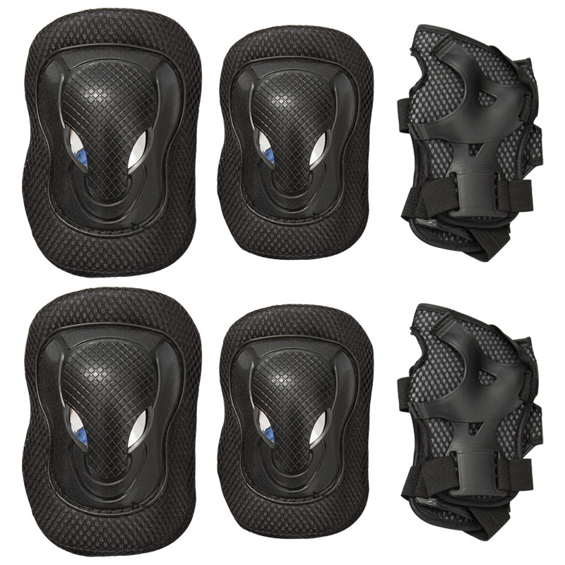 6 Stuks/set Man Women Kid Sport Skateboard Kneelet Pads Pols Guard Gear Pad Gear Child Skateboard Pads