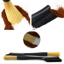 Removable Double Head Coffee Brush Grinder Machine Cleaning Dusting Espresso Powder For Barista