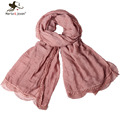 Pure Color Lace Brim Oblong Scarves and Wraps for Women Outdoor Casual Scarfs and Shawls Oversized Lace Pashmina and Shawls