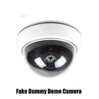 CCTV Surveillance Fake Dummy Dome Camera For Security Plastic White Case