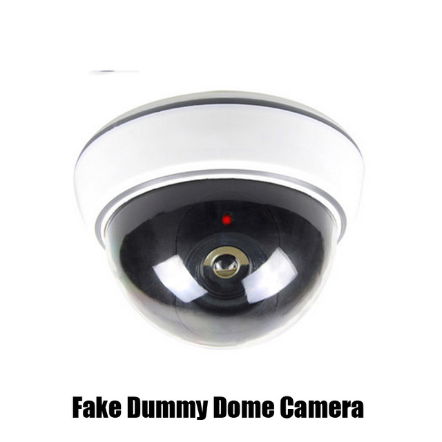 CCTV Surveillance Fake Dummy Dome Camera For Security Plastic White Case