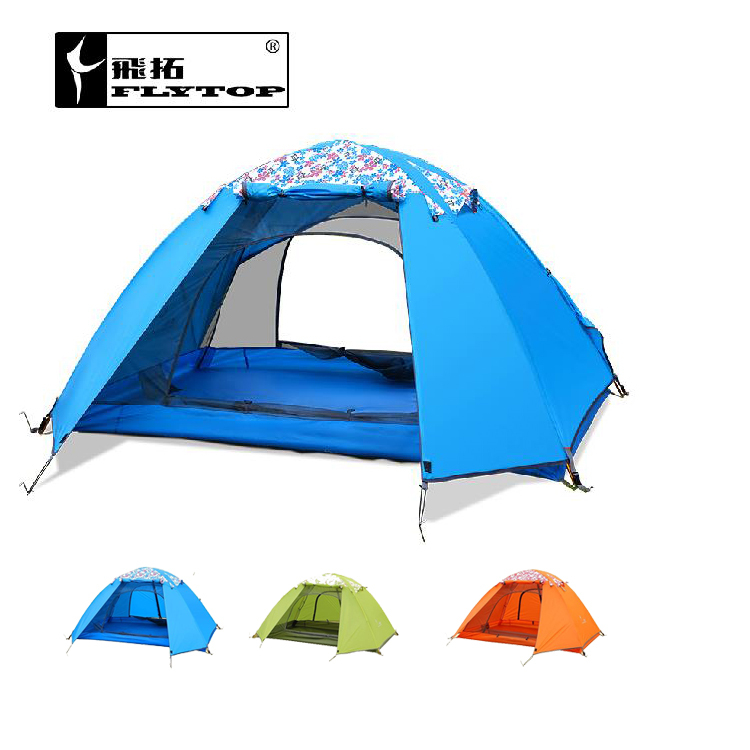 FLYTOP tent outdoor recreation camping equipment tents travel waterproof double layer tent 2 people for free ultralight 1.8kg outdoor recreation