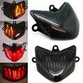 Humo LED Integrado luz de Freno de la Cola Luz Trasera Motocycle + Señal de Vuelta para Kawasaki Ninja ZX10 ZX10R 2004 2005