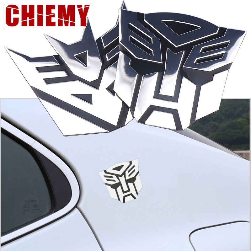 3D Car Stickers Transformers Window Tail Auto Body Decoration Car Styling Autobots Badge Graphic Applique Auto Accessories