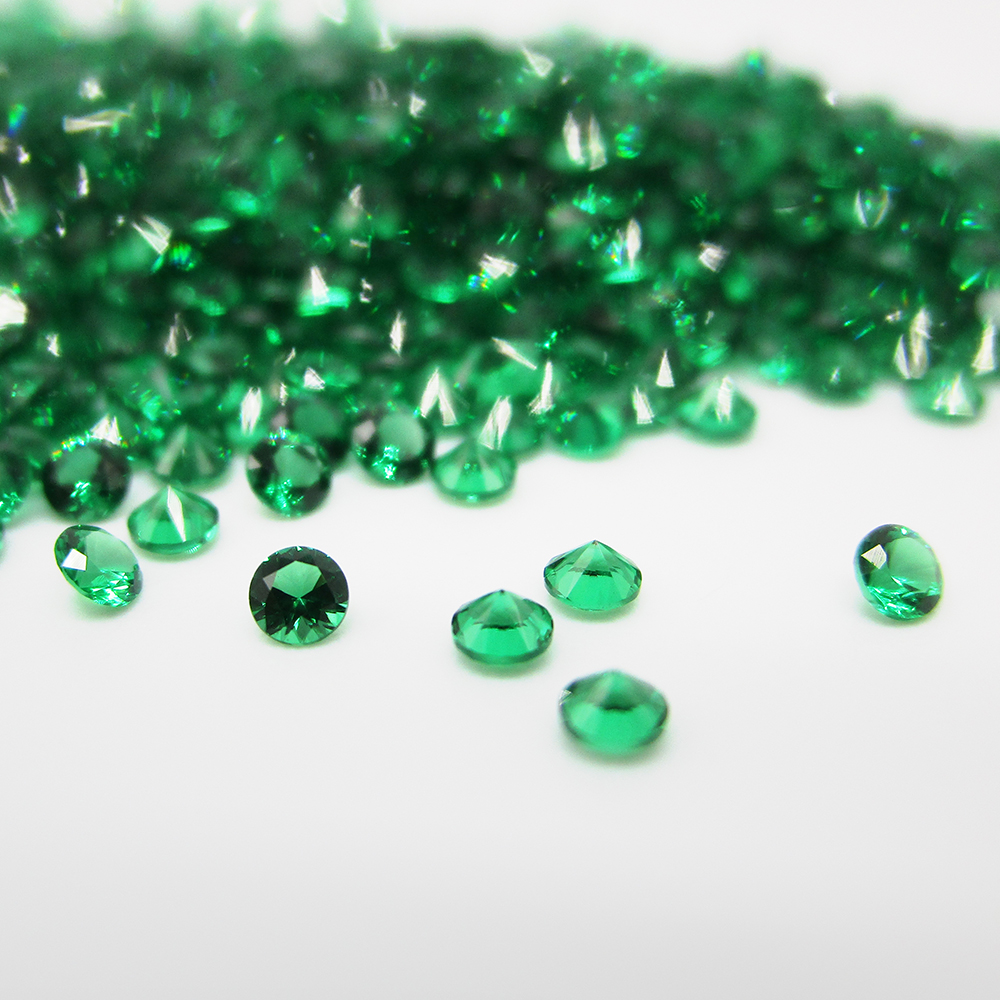 Free Shipping 5A Quality 0 9 2 5mm Round Cut Nano Green Stone For Wax Setting 500pcs lot Green Nano Synthetic Gems For Jewelry in Beads from Jewelry Accessories