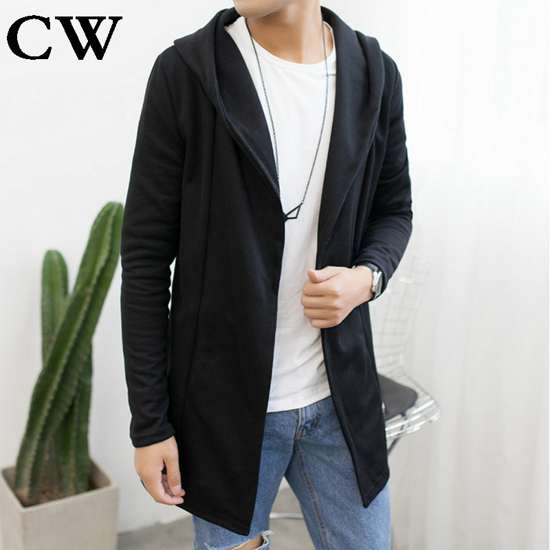 Mens Sweater 2017 New Plus Size Autumn Slim Fit Cardigan Men Simple Hooded Casual Sweater Men Long Mens Cardigans