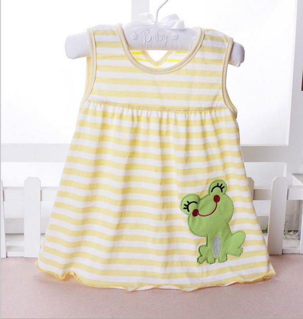 Baby Girl Dress 0-2Y Newborn Baby Summer Embroidery Flower  Cotton Dress Infant Baby 1Year Birthday Dress Baby Clothes