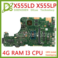 KEFU X555LD Laptop motherboard for ASUS X555LD X555LP X555LA X555L X555 Test I3 CPU mainboard 4G RAM original motherboard