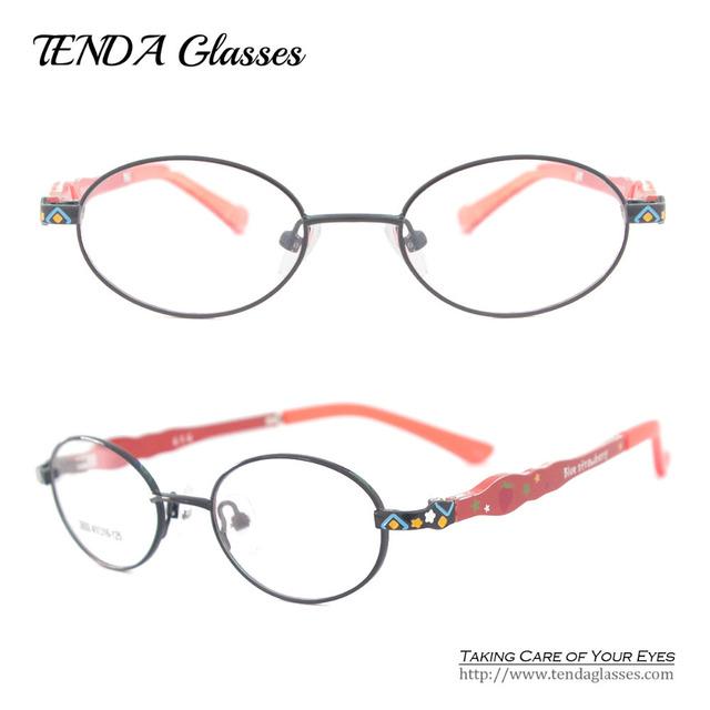 Niños Marco Eyewear de la manera Colorida y Ligero Flexible Templo Anteojos De Lentes Ópticas