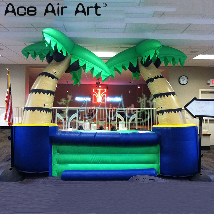 Top quality inflatable coconut cold drink stall,kiosk bar/vendor space,inflatabl tiki bar with removable banners for Events