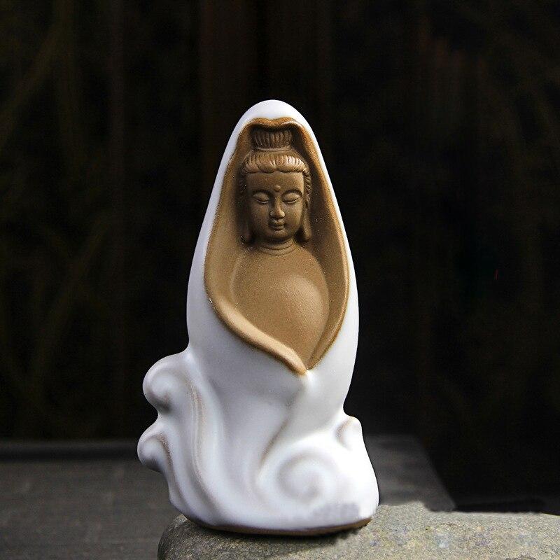 bodhisattva soška buddhismus socha elegantní super roztomilý čaj pet ozdoby slavnostní velkoobchodní buddha čaj pet domácí dekorace