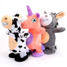 Talking Hamster Donkey Electronic Pets Interactive Soft Singing Walking Cattle Horse Unicorn Plush Dolls Toy