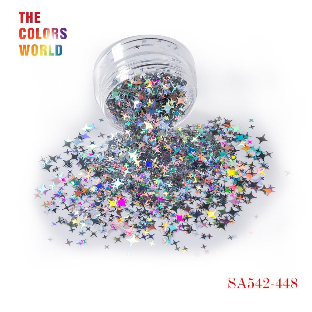 TCT-132, 12 цветов, четыре угла, форма звезд, блестки для ногтей, блестки для украшения ногтей, макияж, боди-арт, сделай сам