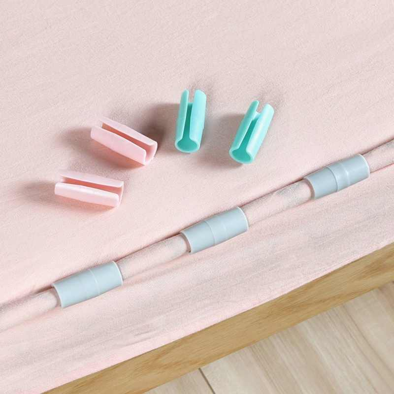 12pcs Bed Sheet Clip Mattress Grippers Fasteners Clothes Pegs Coverlet Holder Slip-Resistant Fixing Clip Holders Clamps