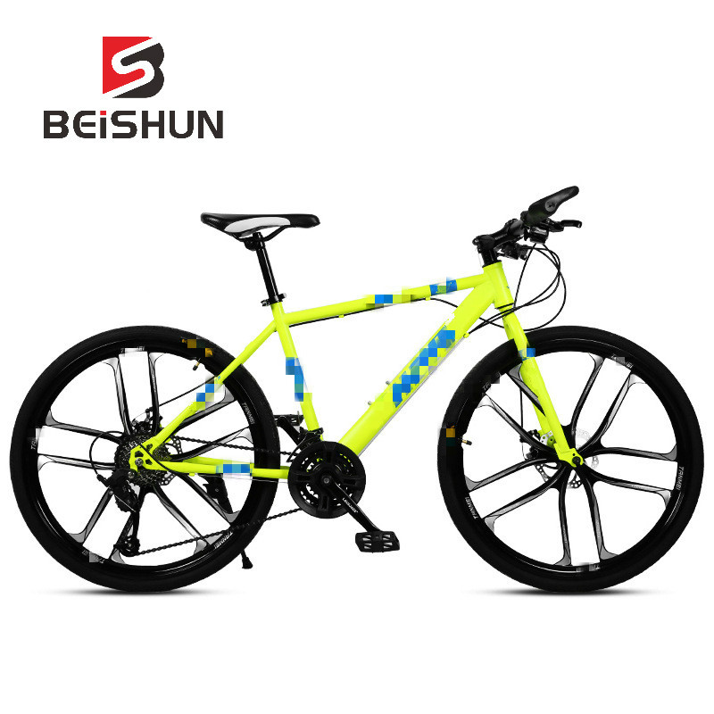 Adult Mountain Bike 26 Inch Speed Shift Double Disc Brakes Ten Knife Wheel Bicycle Male and Female Students Bicycle