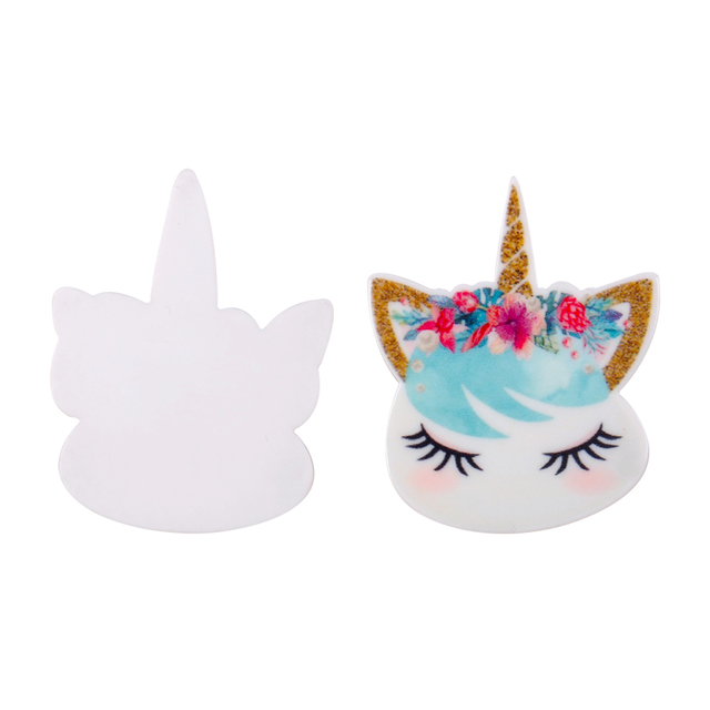 JOJO BOWS 10pcs DIY Craft Supplies Planar Resin Accessories Unicorn Horn Flower For Phone Case Handamde Earring Decor Material