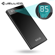 Jellico Power Bank 10000mAh with Digital Display Portable External Battery Charger Dual USB Powerbank for iPhone