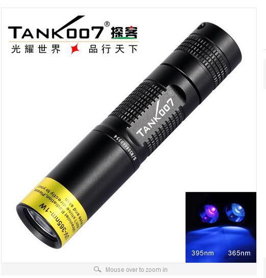TANK007 TK566 395nm 3w flashlight black fluorescent uv light LED Aluminum check monery pesca