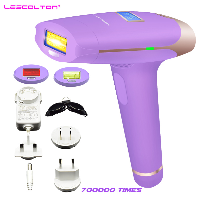 цена на The Most Fashionable Lescolton 3in1 IPL Hair Removal Permanent Epilator With LCD Display Machine For Boay Bikini Face Underarm