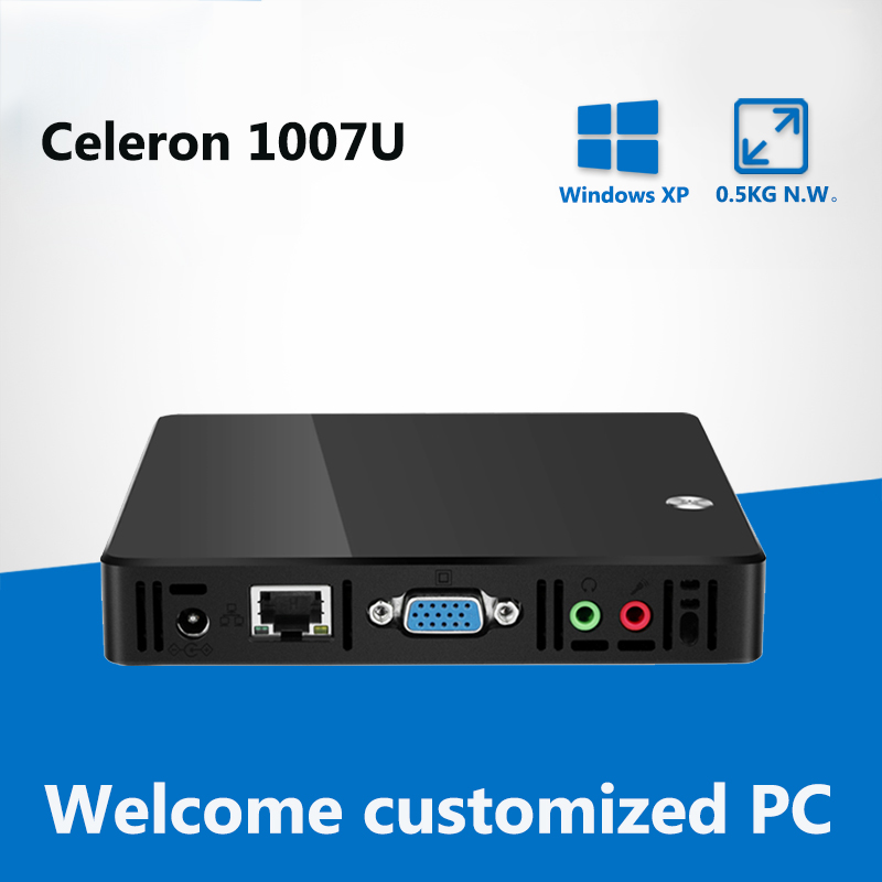 Ultra Thin Mini PC Intel Celeron 1007U 1.50GHz Mini Computer Pentium 2117U Computer Mini Windows 7 Desktop PC HDMI HDR TV BOX