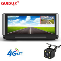 QUIDUX 3g 4G Видеорегистраторы для автомобилей Камера gps 6,86 Android Dashcam регистратор ADAS Full HD 1080 P видео регистратор Двойной объектив dvrs Wi Fi монитор