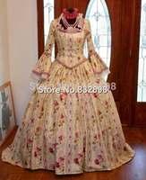 Marie Antoinette Colonial Period Waltz Halloween Masquerade Ball Tea Dress Gown Costume