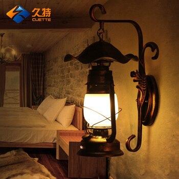 Paese Americano Soggiorno Di Bambù Luci Da Parete Antico Vintage Lanterna Di Cherosene Lampade Da Parete Lampada Da Comodino Camera Da Letto Di Personalità