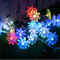 christmas lights outdoor 2m 20 lotus flowers Led string garland light Christmas New year Wedding Party home luminaria decoration