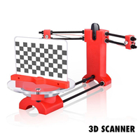 3D Scanner DIY Laser Kits advanced laser scanner 3d Open source Portable Red plastic injection molding parts For 3d printer