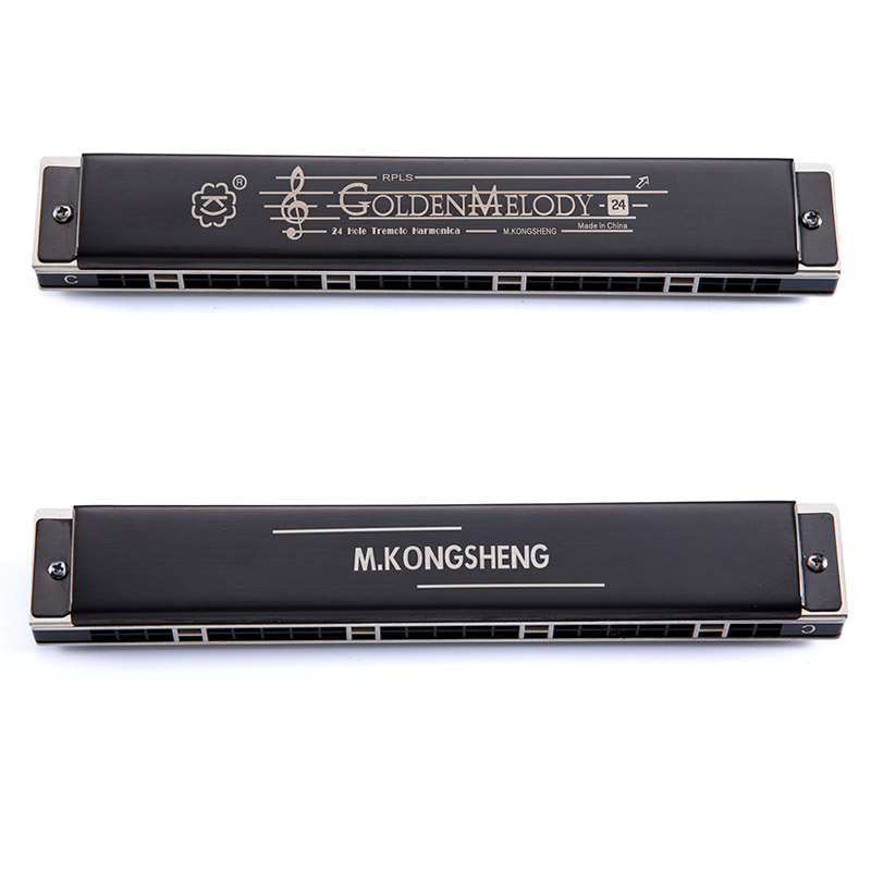 Купить с кэшбэком Professional Tremolo Harmonica 24 Holes KONGSHENG Mouth Organ Woodwind Instruments igh quality Musical Key of C/D/E/F/G/A/B
