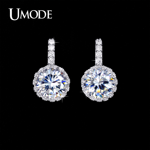 font b UMODE b font Brand Wholesale Bijoux Femme Top Grade AAA CZ Fashion Stud