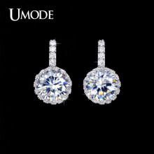 UMODE Brand Wholesale Bijoux Femme Top Grade AAA CZ  Fashion Stud Earrings Jewelry For Women Wedding Piercing AUE0102
