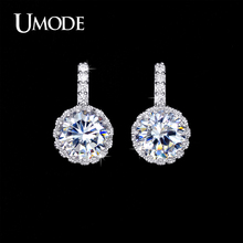 UMODE Brand Wholesale Bijoux Femme Top Grade AAA CZ Fashion Stud Earrings Jewelry For Women Wedding