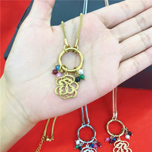 Stainless steel Fashion Luxury Brand Colorful Pendants Sweater Chain Animal Bear Beads Necklace Jewelry For Women Wedding Gifts
