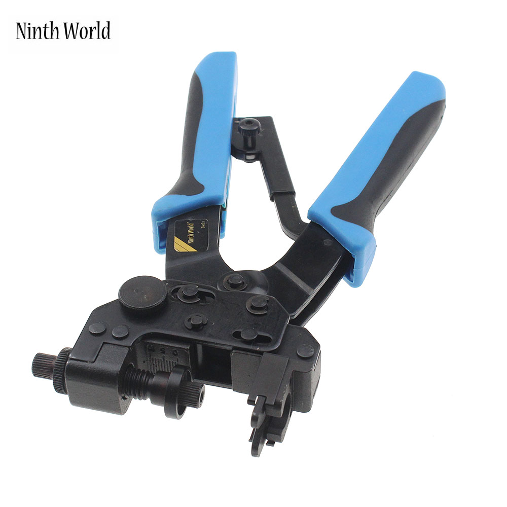 Ninth World Professional Compression Crimping Tools For Crimping F, Bnc, Rca, Rg 59, Rg6 F Type Cable Pliers 0.5-6mm2