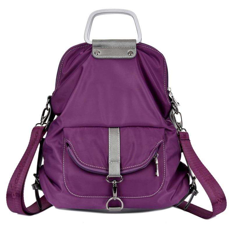 고품질의 브랜드 핸드백 다기능 방수 메신저 가방 여성 레저 나일론 가방 보라색 어깨 가방 계약