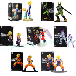Dragon ball z dramática showcase figura gohan célula goku vegeta troncos frieza dbz collectible modelo brinquedos