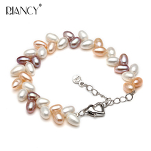 Hot sale Fashion multicolor pearls bracelets for women  natural freshwater pearl 7-8MM