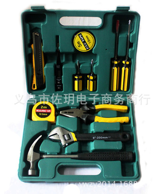 TECH PROFESSIONAL 12 PCS BASIC HAND CARRY TOOL BOX KIT FIX REPAIR HOME TOOLS SET 5 second fix liquid plastic welding kit uv light repair tool glue kit