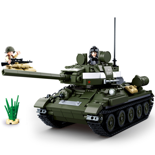 Блоки 2-ой мировой войны, WW2 солдат 2-в-1 T-34 Танк бронированный автомобиль военный спецназ армии строительные блоки действие для игрушка-подарок для детей